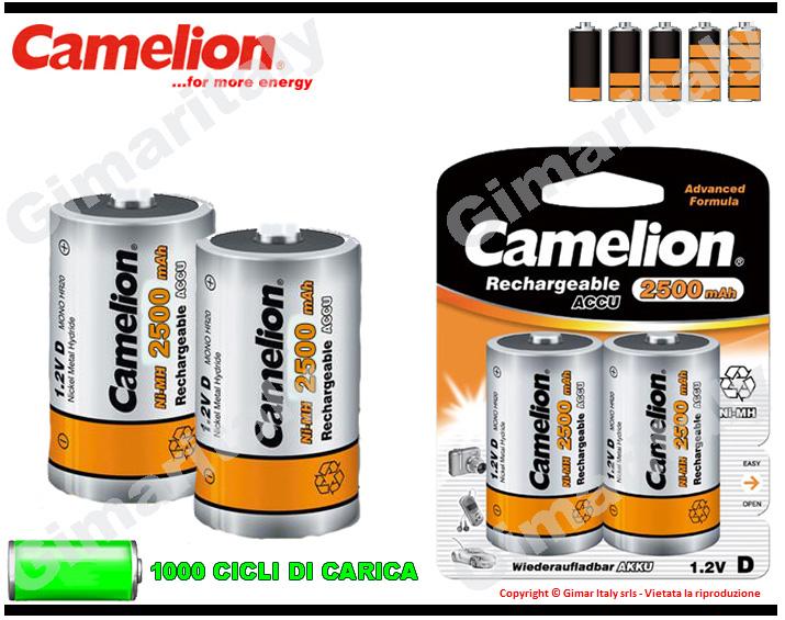 Batterie Torcia D R20 2500 mAh Camelion