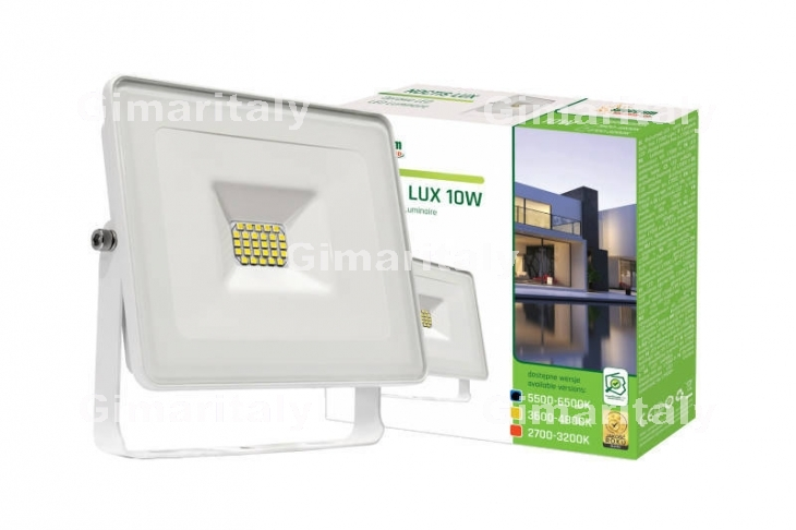 Faro Led 10W Slim Bianco IP65 luce fredda Spectrum