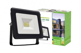 Faro Led 10W Slim Nero IP65 luce fredda Spectrum
