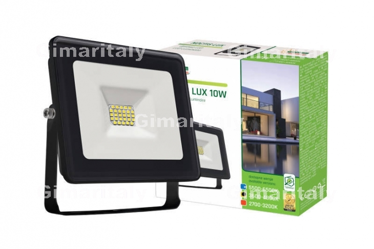 Faro Led 10W Slim Nero IP65 luce naturale Spectrum