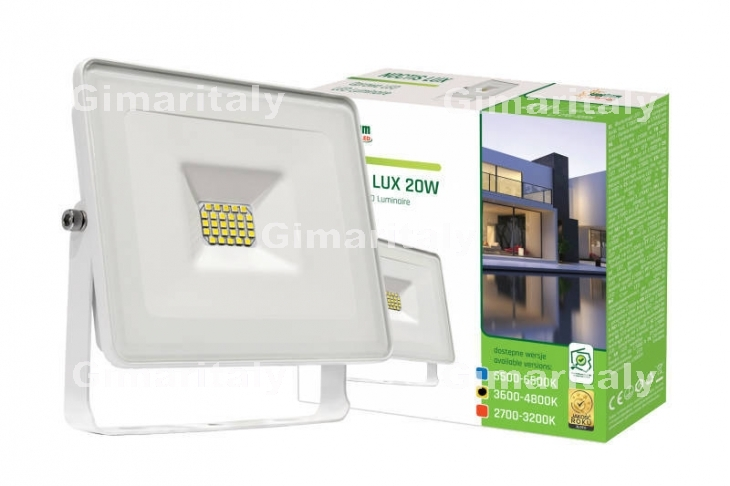 Faro Led 20W Slim Bianco IP65 luce naturale Spectrum