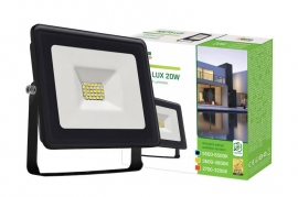 Faro Led 20W Slim Nero IP65 luce fredda Spectrum