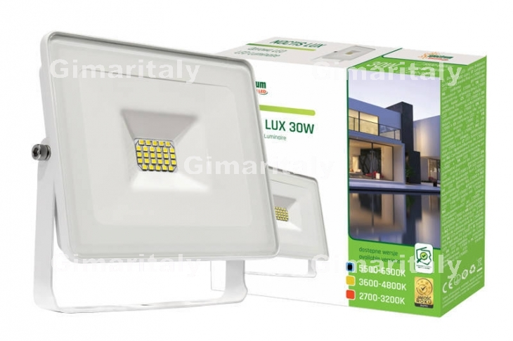 Faro Led 30W Slim Bianco IP65 luce fredda Spectrum