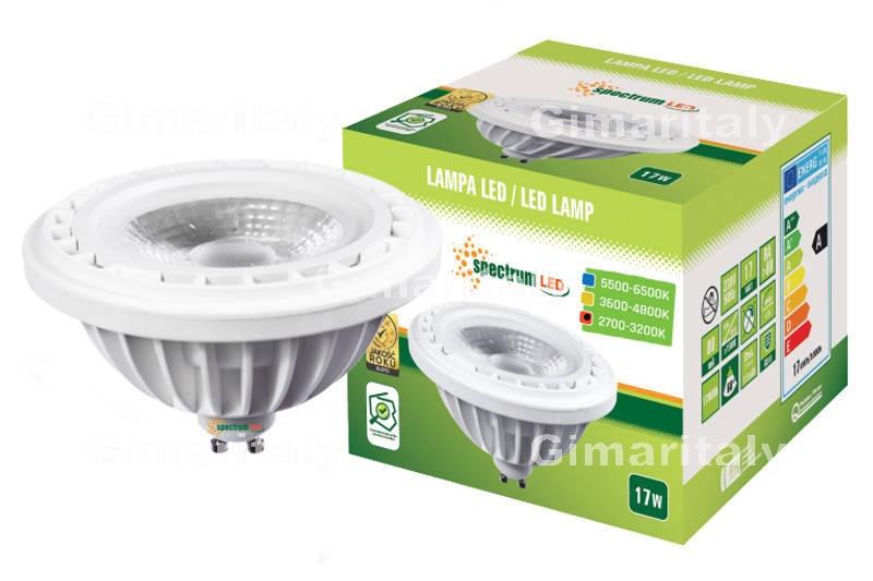 Lampada Led Faretto Gu10.Lampadina Led Ar111 Gu10 17w Faretto Luce Calda Spectrum