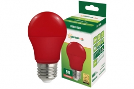 Lampadina Led E27 5W globo A50 colorata rossa Spectrum
