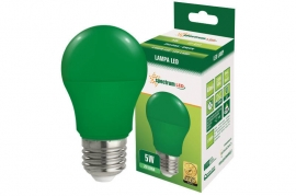 Lampadina Led E27 5W globo A50 colorata verde Spectrum