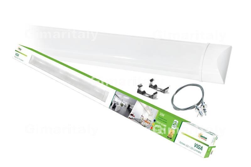Plafoniera Led Luce Fredda : Plafoniera tubo led 32w 120 cm luce fredda spectrum