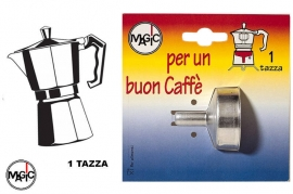 Ricambi Moka Imbuto per Caffettiera 1 Tazza Magic