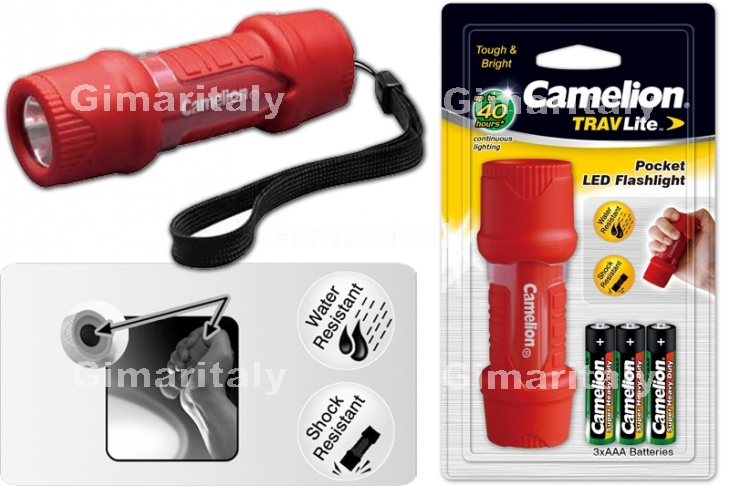 Camelion Torcia 1 Led HP-7011 in pvc impermeabile con 3 AAA (ministilo) incluse blister 1 pz