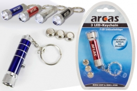 Arcas Mini Torica 3 Led in alluminio con 3 batterie LR44 incluse blister 1 pz