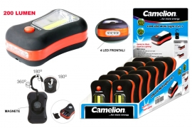 Torcia 3W COB Led + 4 frontali in Abs Camelion expo x 12