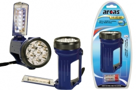 Arcas Torcia 7 Led + 5 Led frontali in pvc con 3 batterie (ministilo) incluse blister 1 pz
